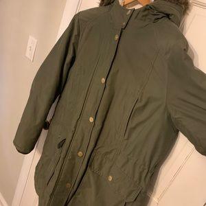 Hooded Faux Fur trimmed Anorak Winter Jacket
